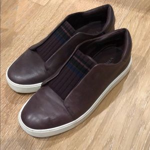 Vince leather slip on sneakers
